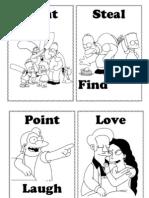 Simpson Verbs Flashcards