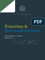 Priorities and Accomplishments