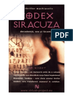 Codex Siracuza Jim Nisbet