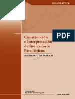 Junin 2012 Odei Inei Guia Contruccion e Interpretacion de Indicadores Estadisticos