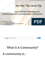 Teachers on the 'Up-and-Up:' Approaching Teacher Education as Interconnected Communities of Practice