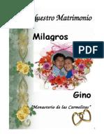Celebracion de Matrimonio Gino y Milagro