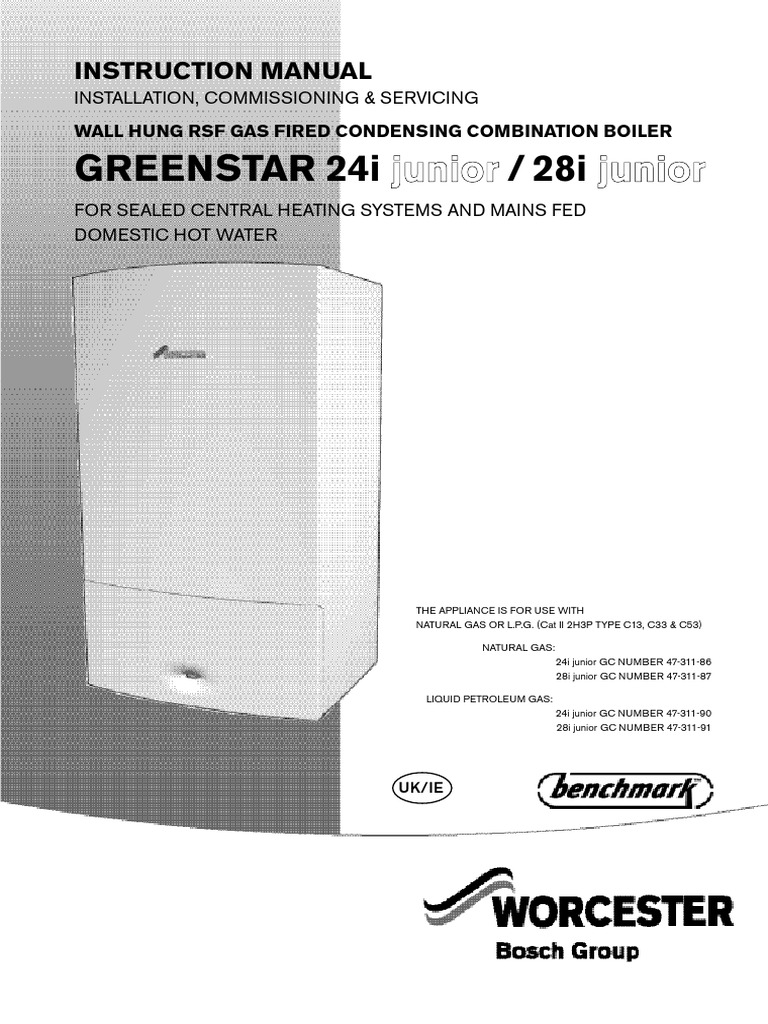 Worcester Greenstar Junior Instruction Guide | Water Heating | Valve