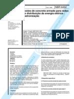 NBR 08452 - 1998 - Postes de Concreto Armado para Redes de Distribuição - Padronização