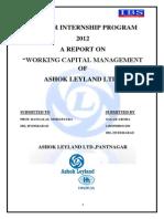 Working Capital Management of Ashok Leyland