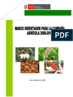 Marco Orientador 2009-2010