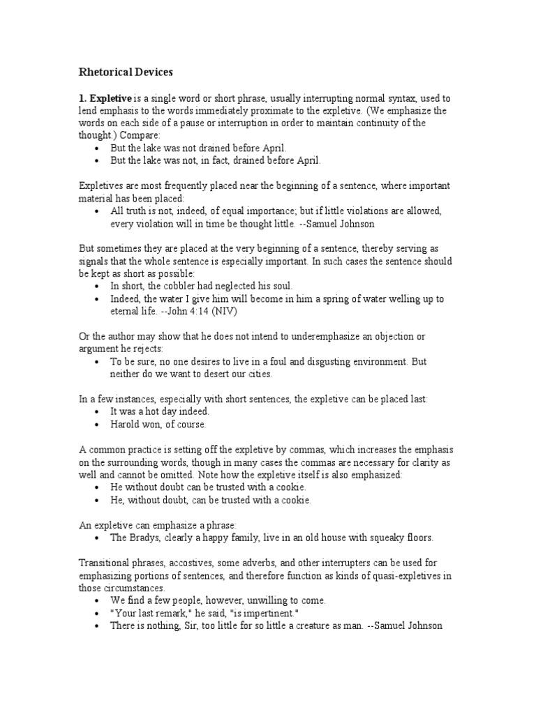 Worksheets Rhetorical Devices Worksheet rhetorical devices philology grammar
