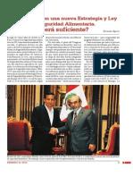 Perú Cuenta Con Una Nueva Estrategia y Ley de Seguridad Alimentaria