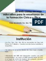 Enseñanza de FCyE con páginas web