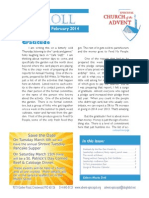 Scroll Feb 2014, news from Advent Episcopal Church in St. Louis