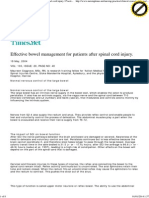 Effective Bowel Management for Patients After Spinal Cord Injury. _ Practice _ Nursing Times
