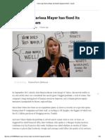 Yahoo Says Marissa Mayer Has Fixed Its Biggest Problem - Quartz
