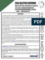 Prova de Conhecimento Intelecto-profissional _pcip_ - Prova 01 Branca