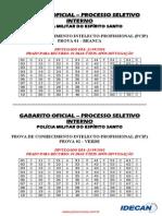 GABARITO OFICIAL POLÍCIA MILITAR DO ESPÍRITO SANTO