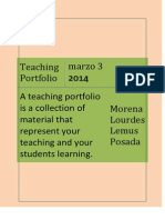 Morena Lemus My Teaching Portfolio
