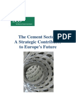 The Cement Sector - A Strategic Contributor to Europe's Future