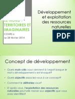 developpement et exploitation des ressources