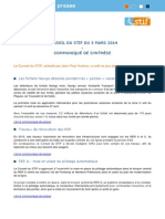 STIF - CA..communiqué synthese  5 mars 2014