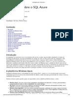 1.4 Introdução sobre o SQL Azure