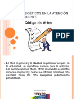 ASPECTOS BIOÉTICOS EN LA ATENCIÓN DEL ADOLESCENTE