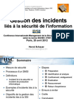 HSC Gestion Incidents informatiques