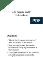 Chi-Square & F Distributions