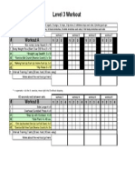 Level 3 Outsider Workout Sheet