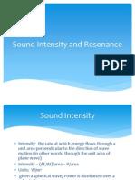 sound intensity and resonance