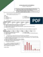 Autoevaluacion de Estadistica básica para 3º ESO