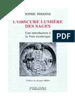 Obscure Lumiere Des Sages - Sophie Perenne