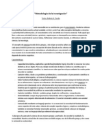 Metodología de la investigación - Resumen- Ruben Pardo