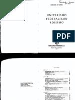 BARBA Enrique M., Unitarismo Federalismo Rosismo