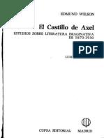 Edmund Wilson IV TSEliot El Castillo de Axel