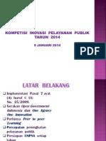 Materi Kompetisi Inovasi Pelayanan Publik 2014