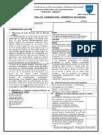 1ro evaluacion bimestral comunicación