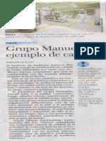 Grupo Manuelita Ejemplo de Calidad El Pais 4 Febrero 2014