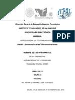 Unidad I. Introducción a las telecomunicaciónes.