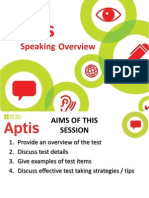 Aptis Speaking Overview
