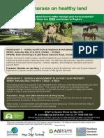 Horse Nutrition and Property Management workshops