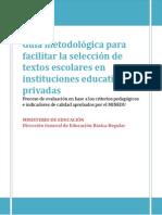 Guia Para Facilitar La Seleccion de Textos Escolares en i.e