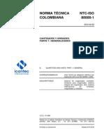 NTC-ISO80000-1 (Resumen)