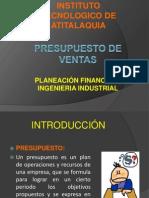 PRESUPUESTO DE VENTAS (PRESENTACIÓN)