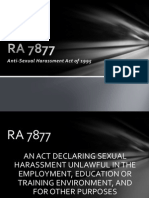 RA 7877 - Sexual Harassment
