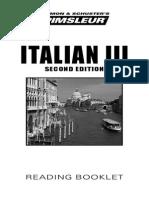 Italian III Reading Booklet