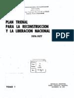 Plan trienal para la reconstrucción y liberación nacional 1974-1977, tomo 1.