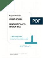 Curso Oficial Fundamentos Itil Ed 2011 - Tecnofor