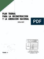 Plan trienal para la reconstrucción y liberación nacional 1974-1977, tomo 4