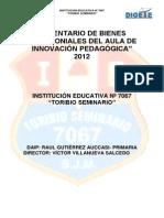 INVENTARIO DEL AULA DE INNOVACIÓN PEDAGÓGICA