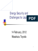 Energy Security and Challange for Japan