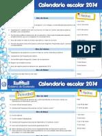 Calendario Escolar 2014 Mineduc Guatemala